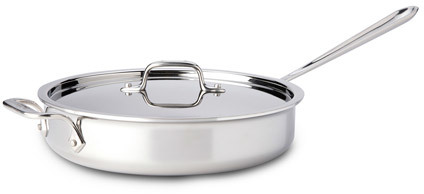 All-Clad Tri-Ply Stainless-Steel Saute Pan with Lid, 3-quart., PR4403