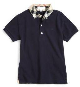 Burberry Boy's William Check Collar Polo Shirt $80 thestylecure.com