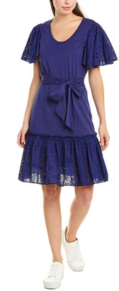 La Vie Rebecca Taylor Embroidered A-Line Dress