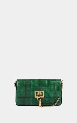 Givenchy Women's Charm Snakeskin Crossbody Bag - Green