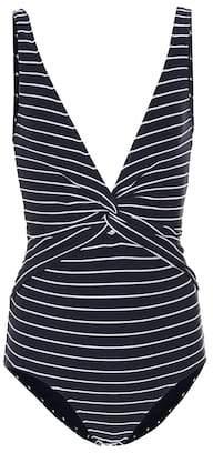 Jonathan Simkhai Striped knot swimsuit