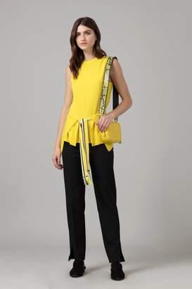 Amanda Wakeley Sleeveless Cashmere Wrap Top in Lemon