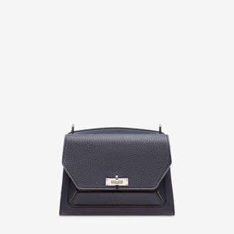 Bally Suzy Medium Blue, Women's goat leather shoulder bag in ink