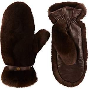 WANT Les Essentiels Women's Fur Mittens - Chestnut