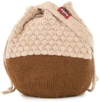 Familiar knitted acorn bottle bag