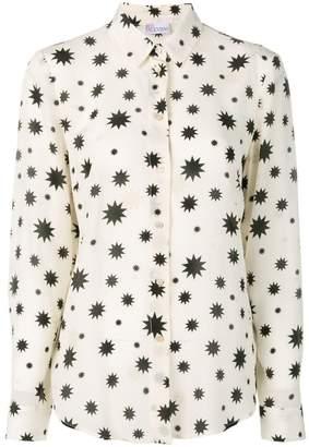 RED Valentino star print silk shirt