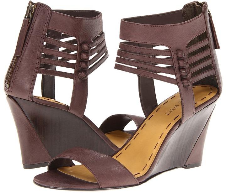 Nine West Fleance (Dark Brown Leather) - Footwear