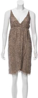 Alice + Olivia Embellished Knee-Length Dress
