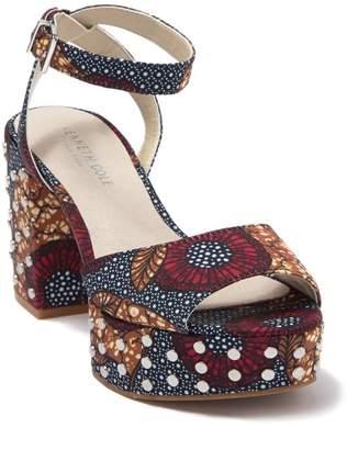 Kenneth Cole New York Phoenix Stud Platform Heeled Sandal