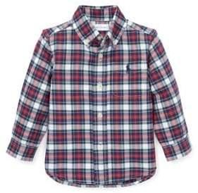 Ralph Lauren Childrenswear Baby Boy's Plaid Cotton Oxford Shirt