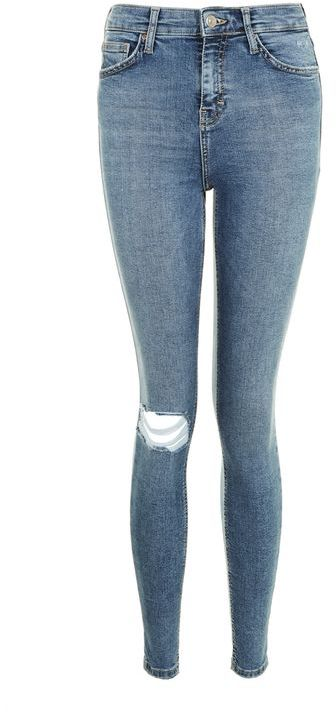 Topshop Topshop Moto mid blue ripped jamie jeans
