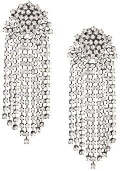 Kenneth Jay Lane Crystal Waterfall Clip-On Earrings