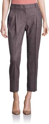 Peserico Women's Plaid Cropped Pants