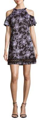 Floral Cold-Shoulder Dress $168 thestylecure.com