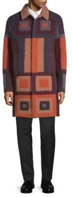 Valentino Printed Wool Overcoat