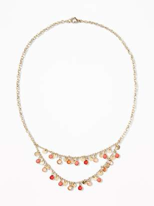 Old Navy Enamel-Disc Statement Necklace for Women