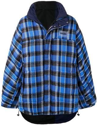 Martine Rose Napa By check print oversized jacket