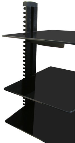 Mount it Wall Mounted AV Component Shelving System with 3 Adjustable Tempered Glass Shelves