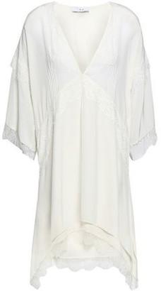 IRO Hanano Lace-trimmed Silk Crepe De Chine Mini Dress
