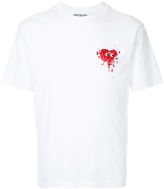 Christian Dada embellished heart T-shirt