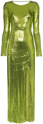 Galvan adela sequin maxi dress