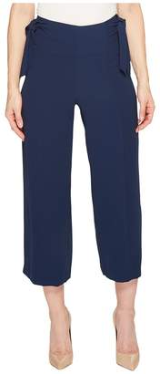 CeCe Moss Crepe Straight Leg Pants w/ Bows Women's Casual Pants