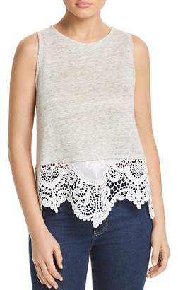 Generation Love Brigette Embroidered Crochet-Trim Tank