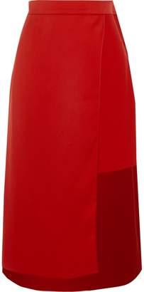 River Island Womens Red wrap high waisted midi skirt