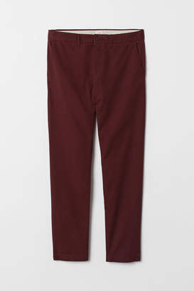 H&M Cotton chinos Slim Fit - Red