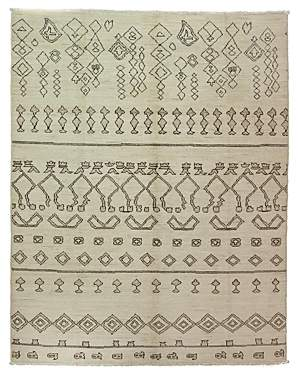 Moroccan Area Rug, 9'10 x 7'8