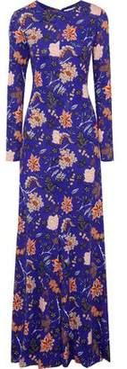 Diane von Furstenberg Floral-Print Silk-Jersey Gown