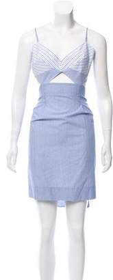 BCBGMAXAZRIA Runway Striped Cutout Dress w/ Tags