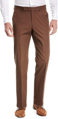 Ermenegildo Zegna Cotton Flat-Front Trousers
