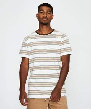 rhythm Everyday Stripe T-shirt Java