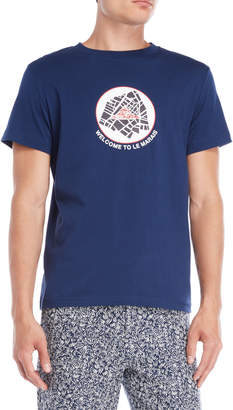Le Mont St Michel Navy Graphic Tee