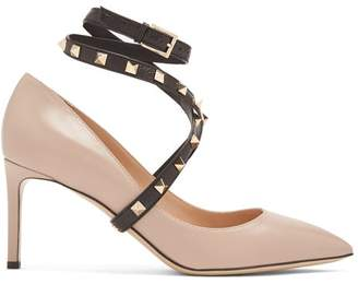 Valentino Studwrap Leather Pumps - Womens - Nude