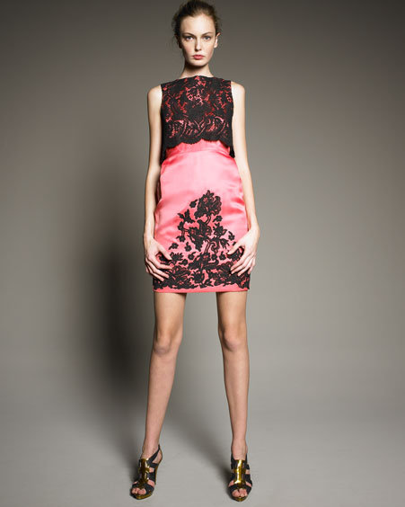 Erdem Lace Twin-Layer Dress