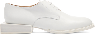 JACQUEMUS Sculptured-heel leather brogues $425 thestylecure.com