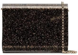 Jimmy Choo black and gold metallic candy twinkle glitter clutch bag