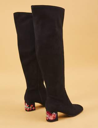 Lane Bryant Over-the-Knee Boot with Embroidered Block Heel