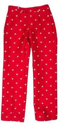 MAISON KITSUNÉ Printed Mid-Rise Pants