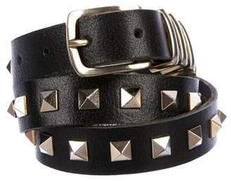 Anine Bing Studded Leather Belt