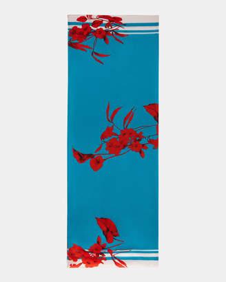 Ted Baker CLAUDI Fantasia silk cape scarf