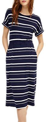 Warehouse Stripe Channel Midi Dress, Multi