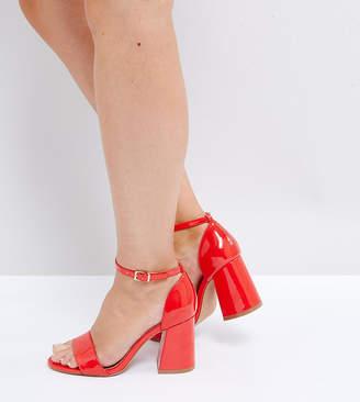 Asos DESIGN HEARTACHE Wide Fit Heeled Sandals