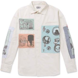 Cav Empt Commodification Appliquéd Cotton Shirt