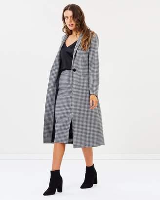 Bardot Check Coat
