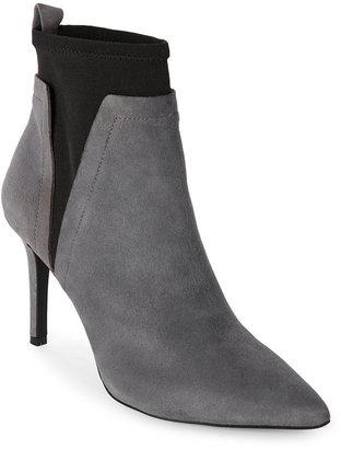 jones new york Grey & Black Ashley Ankle Booties $129 thestylecure.com