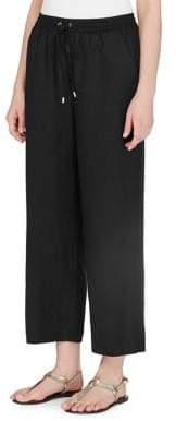 Joan Vass New York Drawstring Ankle Pants