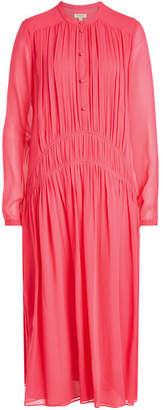 Burberry Kara Button-Down Silk Chiffon Dress